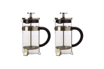 2PK Maxwell & Williams Blend 350ml Coffee Plunger Press Glass Stainless Steel SL
