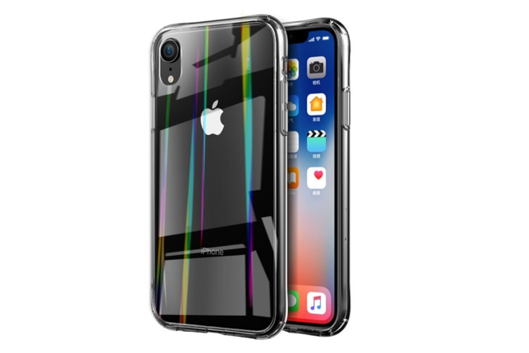 Aurora Toughened Glass Handset Shell Tpu Soft Shell For Iphone Aurora Transparent Iphone Xs Max(6.5Inch)