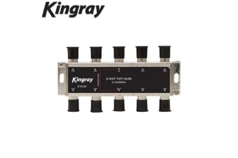 Kingray 8 Way F-TYPE 16dB TAP