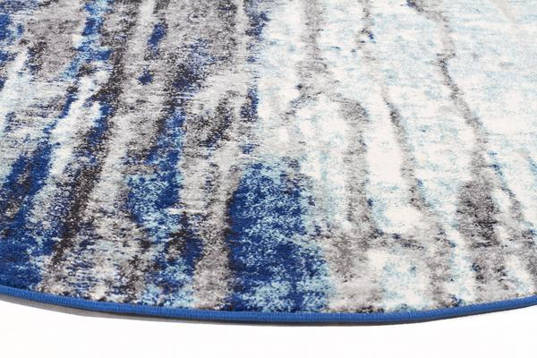 Transpose Blue Transitional Rug 150x150cm