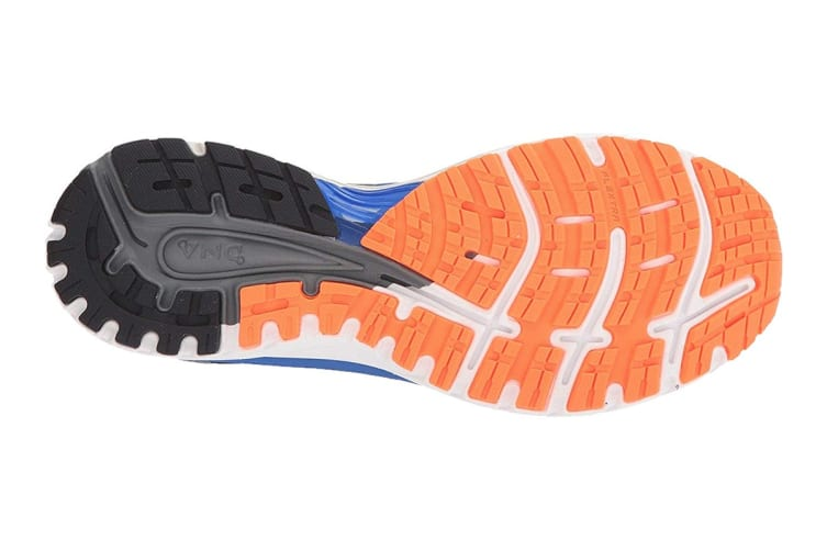 Brooks Men's Adrenaline GTS 18 (Blue/Black/Orange, Size 10.5)