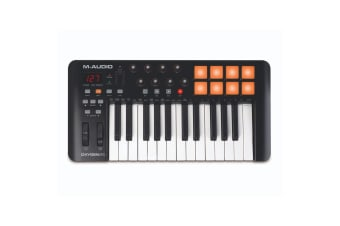 M-Audio Oxygen 25 USB MIDI Pad Portable Keyboard Controller w/ Ableton Live BLK