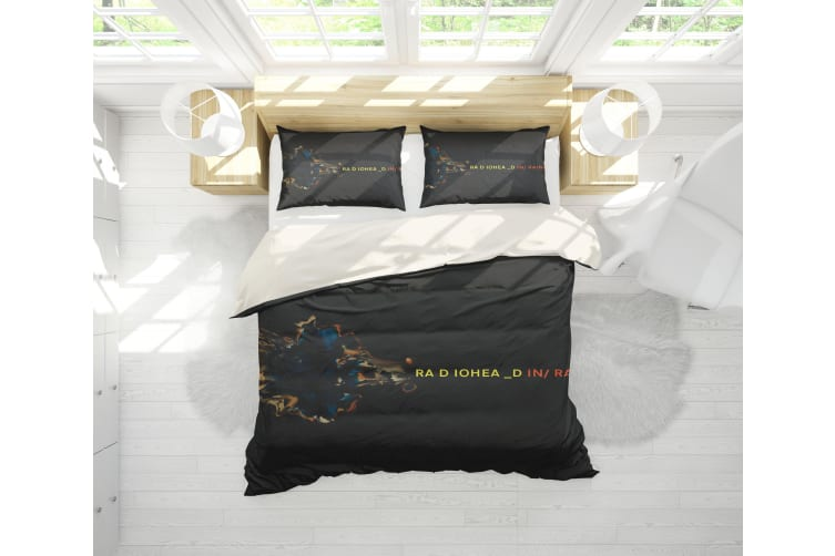 3D Band Radiohead Quilt Cover Set Bedding Set Pillowcases 73-Double