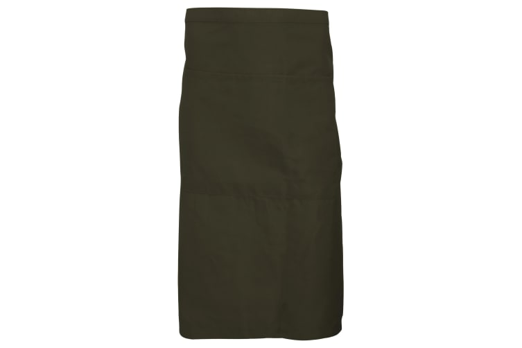 Dennys Adults Unisex Catering Waist Apron With Pocket (Olive) (One Size)