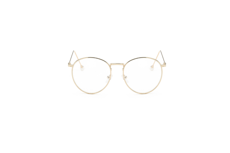Classic Retro Metal Frame Nearsighted Myopia Glasses - Gold Gold 550 Degrees Myopia