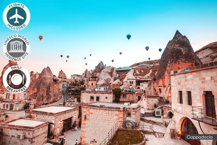 TURKEY: 13 Day Highlights of Turkey Tour Including Flights for Two