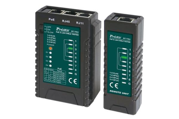 Image of ProsKit MT-7064 PoE & LAN Cable Tester / 2 Years Warranty