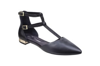 Rockport Womens/Ladies Adelyn Leather T Strap Shoes (Black)