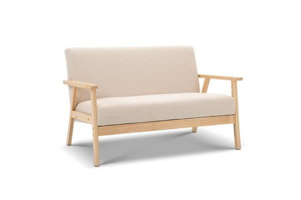 2 Seater Fabric Sofa Chair (Beige)