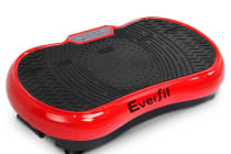 1000W Vibrating Plate with Roller Wheels (Red)