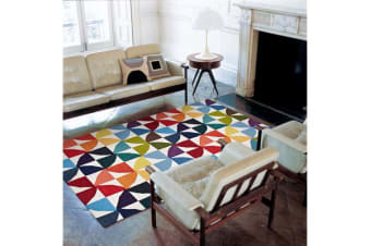Flat Weave Fun Multi Coloured Rug 225x155cm