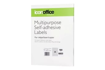 Icon A4 Adhesive Label 88 labels per page (48 x 12.7 mm