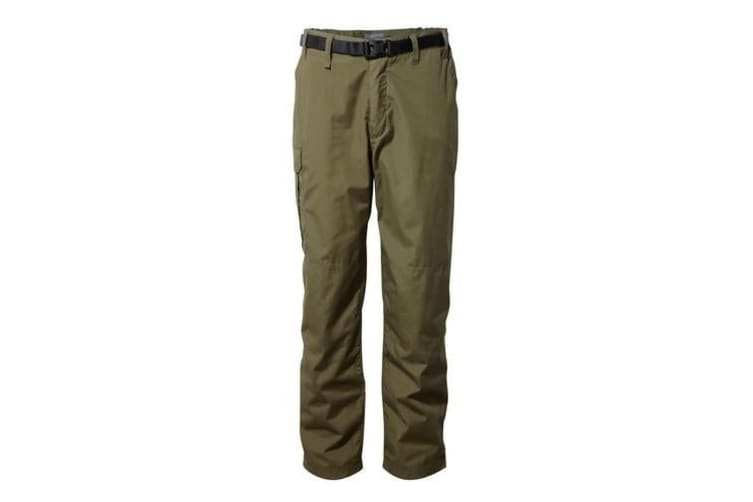 Craghoppers Outdoor Classic Mens Kiwi Stain Resistant Trousers (Dark Moss) (34S)