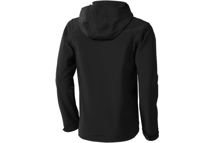 Elevate Mens Langley Softshell Jacket (Solid Black) (XXL)