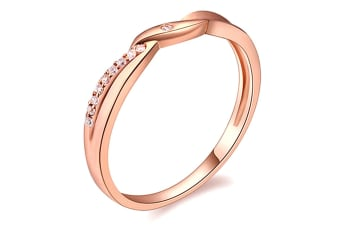Sweet Temptation Ring-Rose Gold/Clear Size US 8