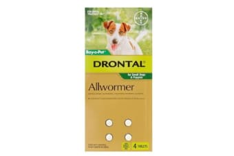 Drontal Allwormer Tablets for Small Dogs - 4p