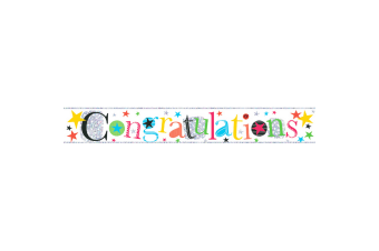 Simon Elvin Congratulations Foil Party Banner (Multicoloured)