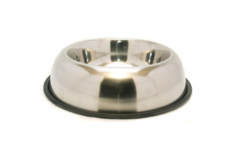 Rosewood Non Slip Stainless Steel Pet Bowl (Silver) (10in)