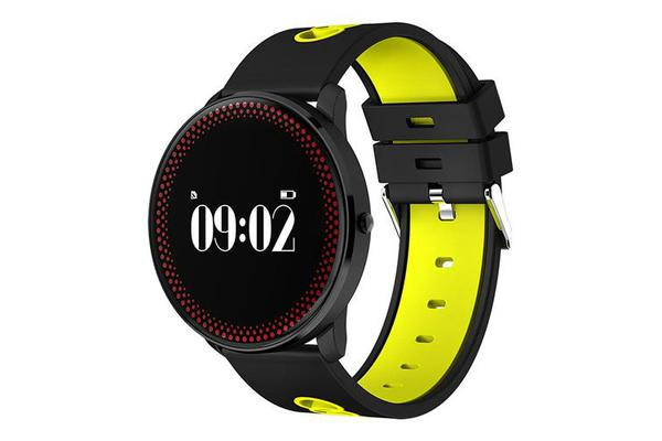 """Bluetooth V4.0 Smart Watch Heart Rate Blood Oxygen 0.96"""" Oled - Yellow"""