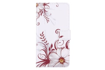 For iPhone 8 PLUS 7 PLUS Wallet Case Flower Buds Durable Shielding Leather Cover