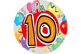 Expression Factory Childrens/Kids I Am 10 Today Giant Badge (Multicoloured) (One Size)