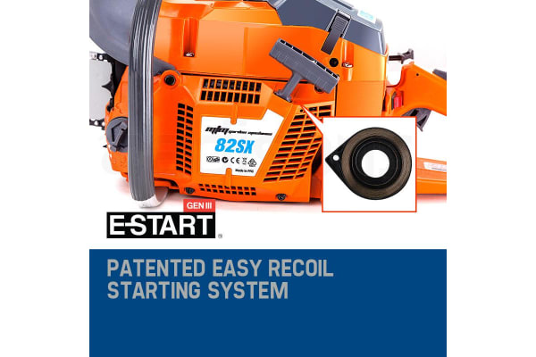 NEW MTM 82cc Commercial Petrol Chainsaw 24' E-Start Bar Tree Pruning Chain Saw