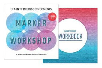 Marker Workshop (2 Books in 1) - Learn to Ink in 50 Experiments