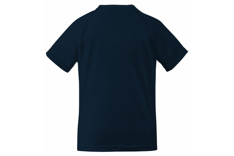 Fruit Of The Loom Childrens Unisex Performance Sportswear T-Shirt (Deep Navy) (9-11)