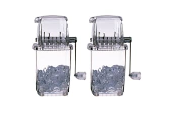 2x Bartender Portable Manual Ice Crusher Smasher Shaver Slushie Cocktail Drink