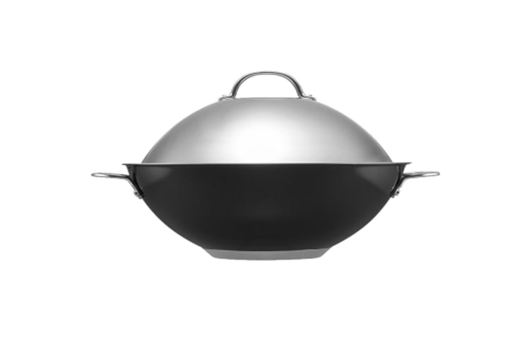 Raco Luminescence Stainless Steel 36cm Wok w  Lid Gas Induction Dishwasher Safe