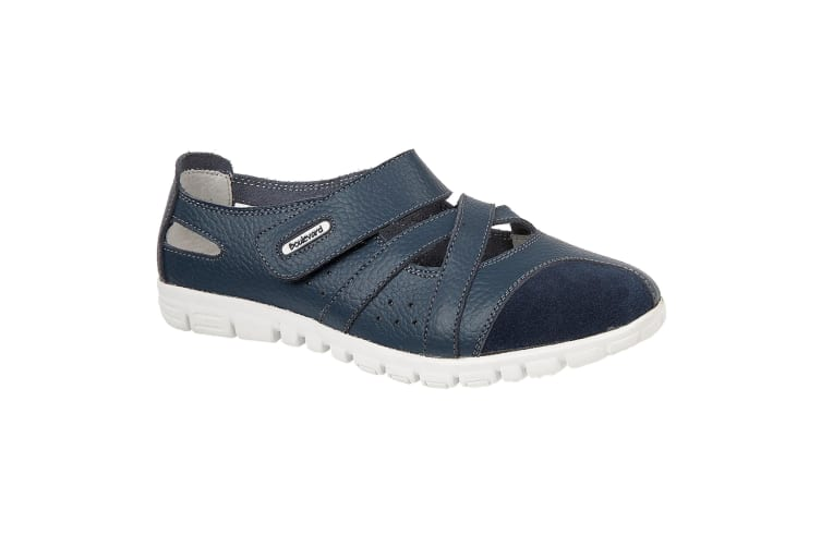 Boulevard Womens/Ladies Action Leather/Suede Shoes (Navy) (3 UK)