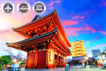 JAPAN: 9 Day Impressions of Japan Tour Including Flights For Two (2)