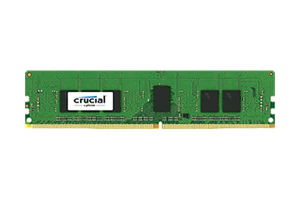 Crucial 8GB Kit (4GBx2) DDR4 2400 MT/s (PC4-19200) CL17 SR x8 ECC Unbuffered DIMM 288pin