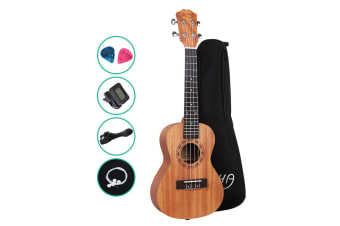 "23"" Concert Ukulele Mahogany Ukuleles Uke Hawaii Guitar Carry Bag Tuner"