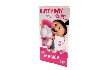 Despicable Me Agnes Birthday Girl Card (Pink/White)