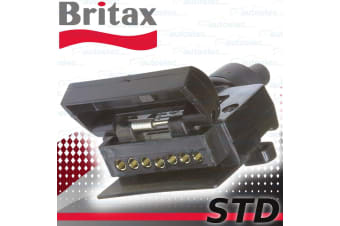 BRITAX  7 PIN FLAT TRAILER SOCKET CONNECTOR CAR FEMALE CARAVAN CAMPER NEW  STD