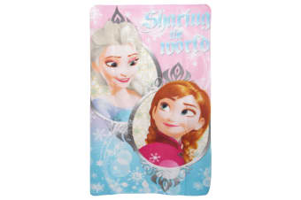 Disney Frozen Childrens Girls Sharing The World Fleece Blanket (Pink/Blue) (One Size)