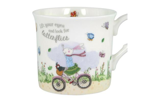 Ashdene Ruby Red Shoes Mug 260ml Butterflies
