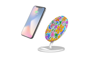 QI Wireless Charger For iPhone 11 For Samsung Galaxy S10+ S10e Note 10+ Floral
