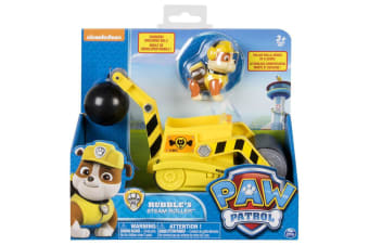 Paw Patrol Rubble's Steam Roller Construction Vehicle and Figure