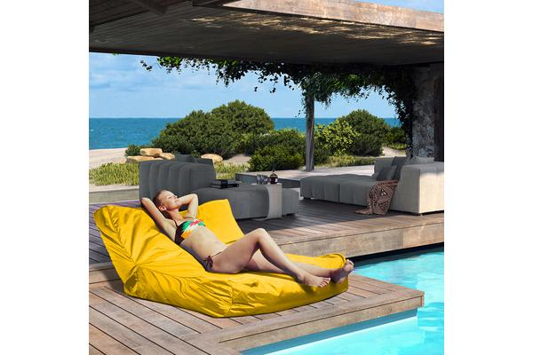 GIANT POOL BEAN BAG Floating Sofa Chair Lounge Waterproof Yellow