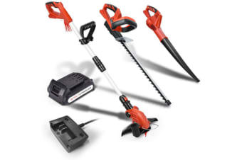 Matrix 20V Lithium Cordless Leaf Blower Snipper Grass Hedge Trimmer Garden Sets