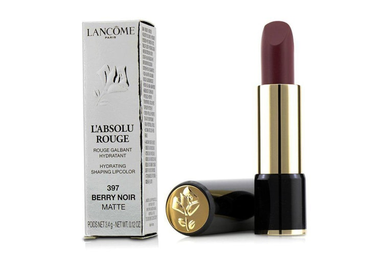 Lancome L' Absolu Rouge Hydrating Shaping Lipcolor - # 397 Berry Noir (Matte) 3.4g