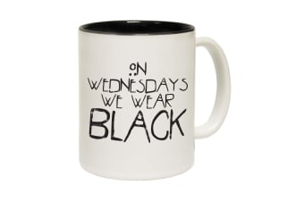 123T Funny Mugs - On Wednesdays We Wear - Black Coffee Cup