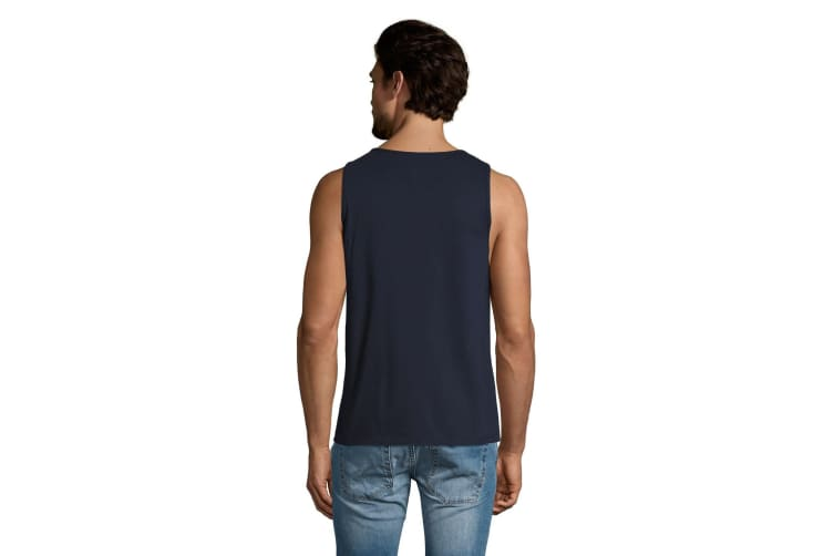 SOLS Mens Justin Sleeveless Tank / Vest Top (French Navy) (L)