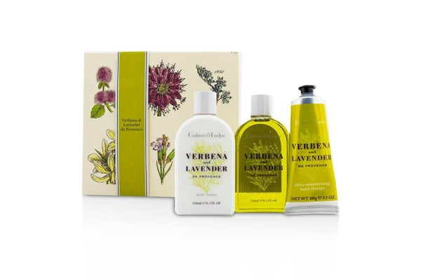 Crabtree & Evelyn Verbena & Lavender Essentials Set: Bath & Shower Gel 250ml + Body Lotion 250ml + Hand Therapy 100g (3pcs)
