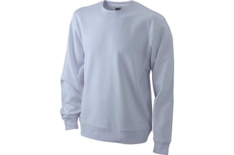 James and Nicholson Unisex Basic Sweatshirt (White) (M)