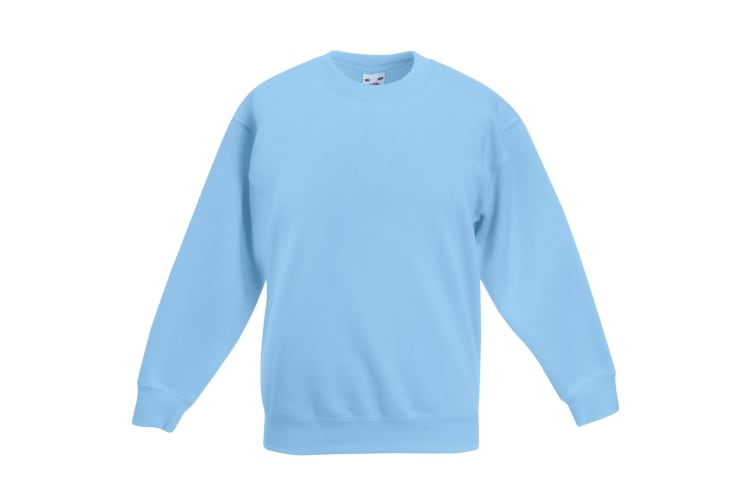Fruit Of The Loom Kids Unisex Classic 80/20 Set-In Sweatshirt (Pack of 2) (Sky Blue) (14-15)