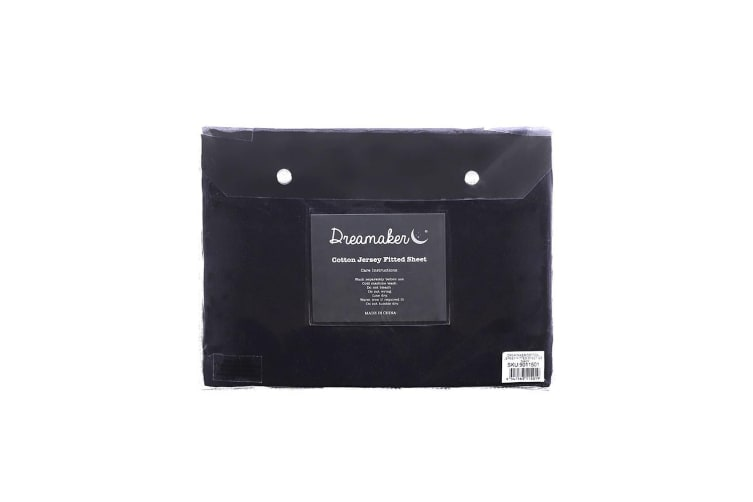 Dreamaker cotton jersey fitted sheet KB Navy