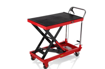 T-REX Hydraulic Scissor Table Lift Cart 350KG Heavy Duty Workshop Commercial